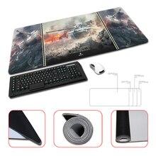 Three Tight World of Tanks Design Wallpaper Computer Gaming Mouse Pads Anti-slip Optical Gamer Speed Mice Play Mats