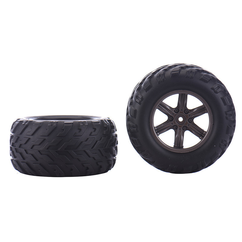 1 Pair of Type for S911/9115 RC Car Tyres Models Racing RC Car Off Road Truck Wheels RC Toy Parts zingo racing 9115 1 32 micro rc off road car rtr