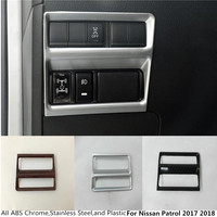 For Nissan Patrol 2017 2018 Car Detector Stick Body Styling Cover Front Headlight Light Switch Inner