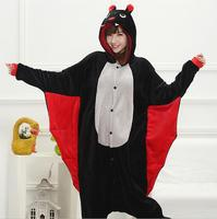 Unisex Adult Flannel Pajamas Cosplay Cartoon Bat Animal Winter Onesies Women Christmas Halloween Pajama Pyjama Sets
