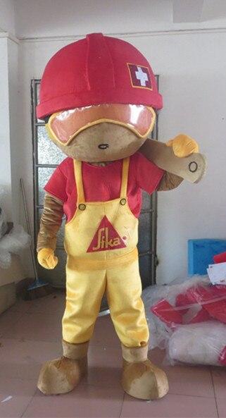 Haute qualité chapeau rouge garçon taille adulte mascotte Costume Halloween noël fantaisie mascotte Costume
