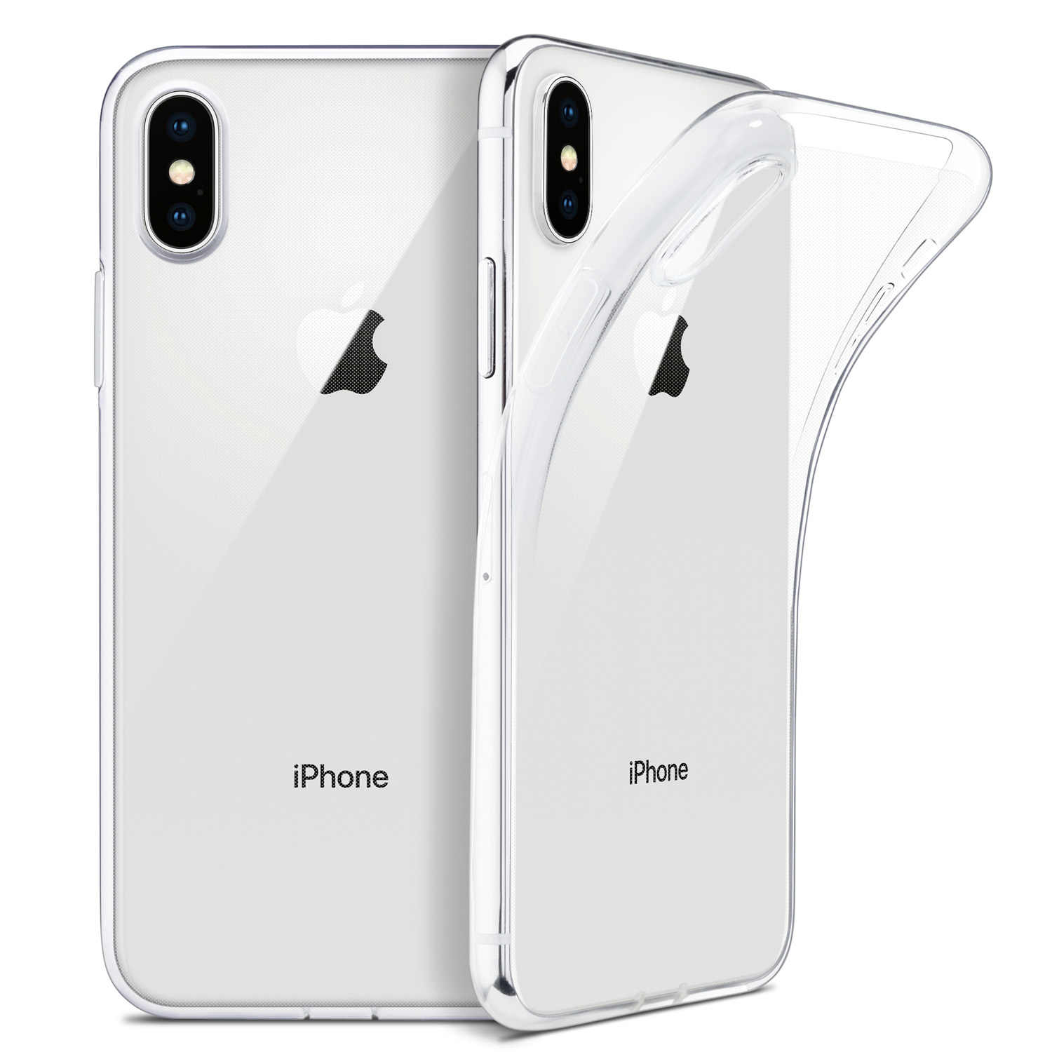"Per la custodia iPhone X, WEFOR Slim Cover in TPU trasparente morbida supporto ricarica Wireless per Apple 5.8 ""iPhone X /iPhone 10 (versione 2017)"