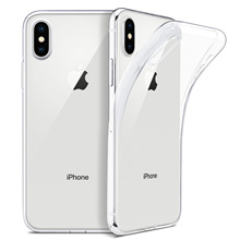 For iPhone X Case, WEFOR Slim Clear Soft TPU Cover Support W