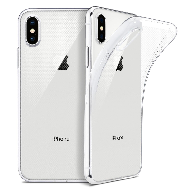 Para o iphone x caso, wefor fino claro macio tpu capa suporte de carregamento sem fio para apple 5.8