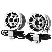 2PCS Motorcycle Speakers Horn 30W HiFi Stereo Audio Full Ran