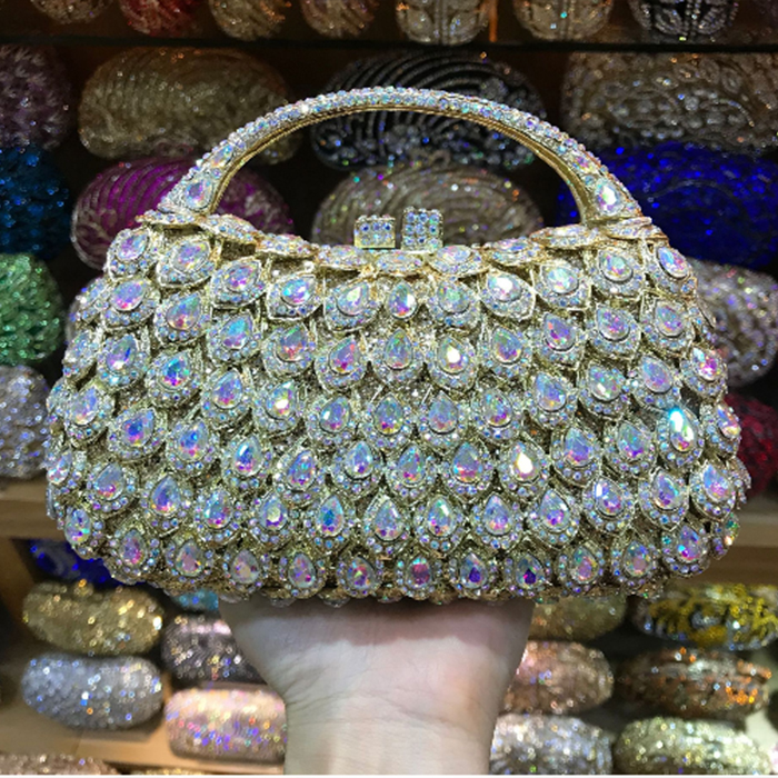 XIYUAN BRAND Luxury Crystal Evening Bags diamond party purse pochette soiree Women Chain handbags wedding Bag Day Clutches red пакет подарочный феникс презент веселый хоровод 26 х 32 4 х 12 7 см
