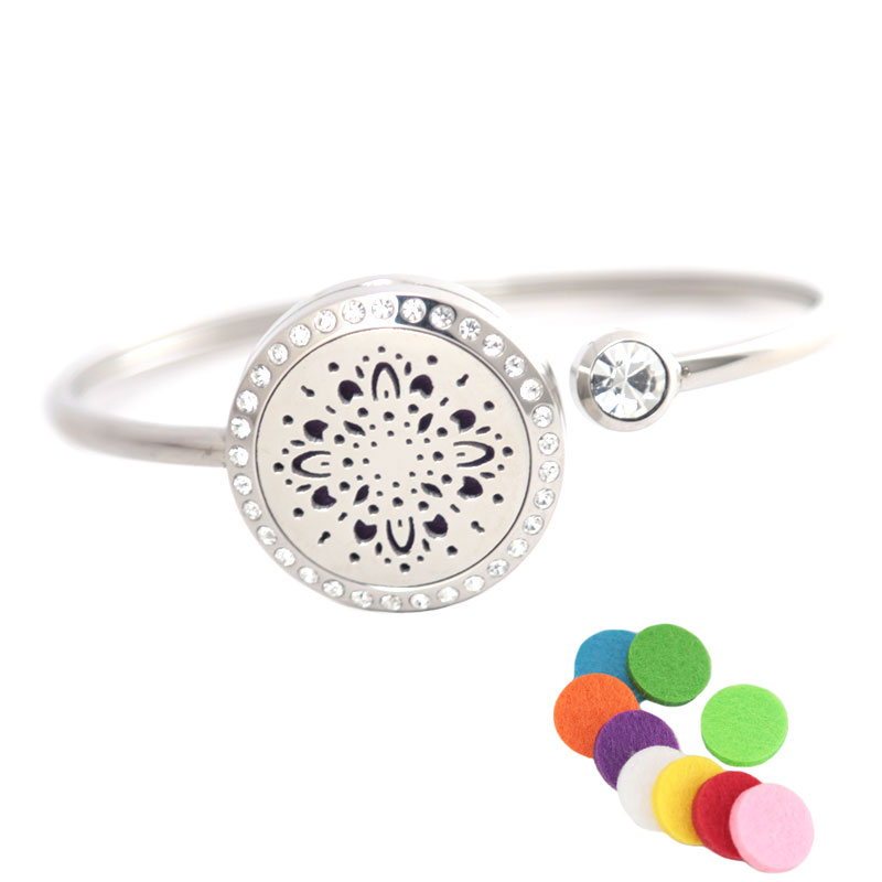 Cheap Price 10pcs Fireworks Locket Bracelet Bangle Aromatherapy 25mm Magnet Crystal Stainless Steel Essential Oil Diffuser Locket Bracelet Careful Calculation And Strict Budgeting