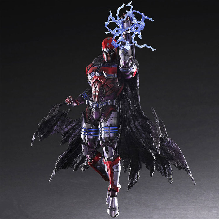 Play Arts Kai X-Men Action Figure Max Eisenhardt 27CM PVC Collection Model Toy X Men X-Men Magneto PA Kai all new x men volume 1 yesterday s x men