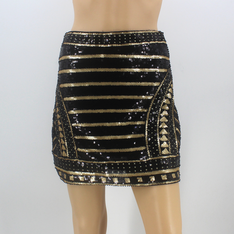 06ffd7719b81 Bling Vintage 1920s Great Gatsby Party Skirt High Waist Geometric Striped Baroque  Skirt Embroidery Beading Sequin Pencil Skirt-in Skirts from Women's ...