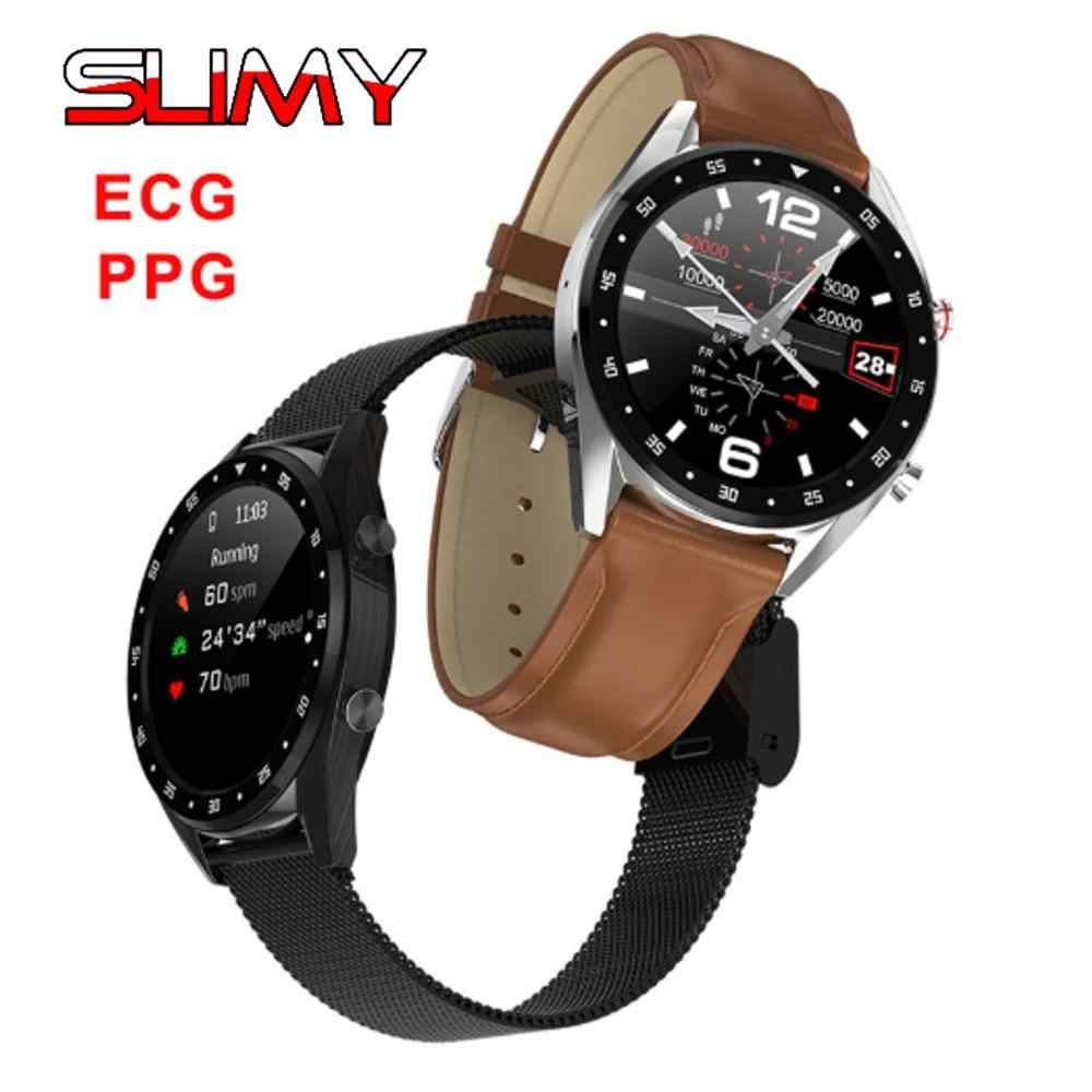 Slimy L7 Bluetooth Smart Watch ECG+PPG HRV Heart Rate Blood Pressure Monitor IP68 Waterproof Smartwatch for Android IOS PK N58