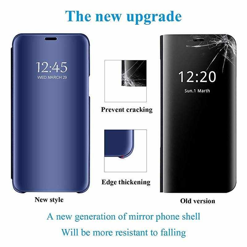 S10 5G حقيبة لهاتف سامسونج غالاكسي S8 S9 S10 زائد لايت S10E 5G الوجه مرآة الذكية النوم حقيبة لهاتف سامسونج ملاحظة 9 8 5 4 3 S6 S7 حافة