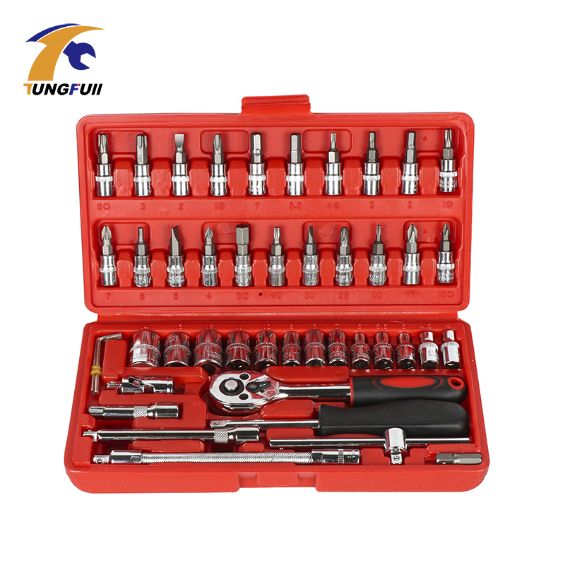 Hot Selling 23-53pcs Spanner Socket Set 1/4 Car Repair Tool Ratchet Wrench Set Cr-v Hand tools Combination Bit Set Tool Kit promotion 46pc spanner socket set 1 4 car repair tool ratchet wrench set cr v hand tools combination bit set tool kit