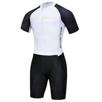 Men's Triathlon Tri Suit Short Sleeve Quick Dry Skinsuit Triathlon Race suit With Extended Zippers Breathable & Durable