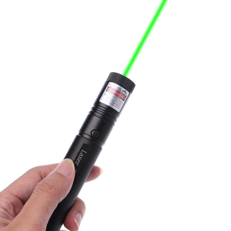 OOTDTY Green Laser Pointer Military 5mW 532nm 301 Pen Lazer Light Visible Beam Burn ...