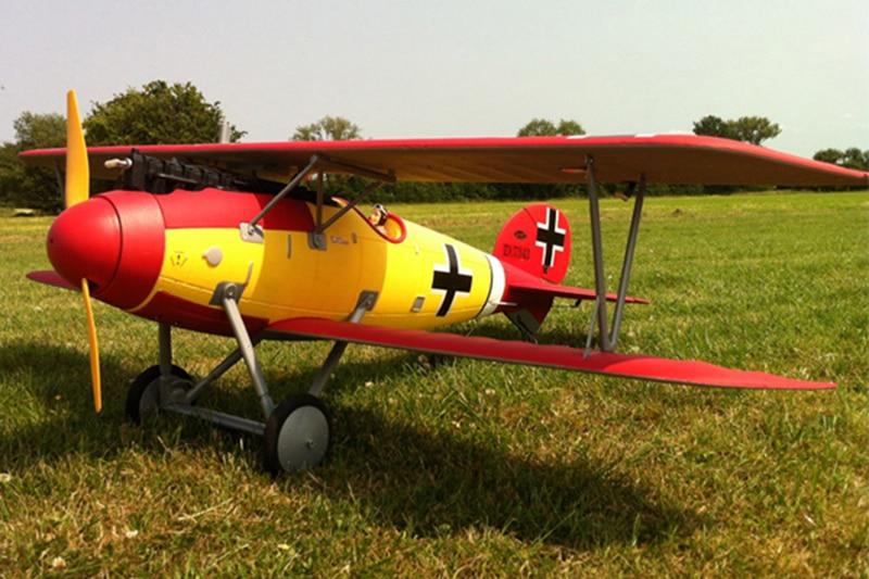 Dynam 1270MM Albatros Dva RC RTF Propeller Plane W/ Motor ESC Motor Servos Battery цена