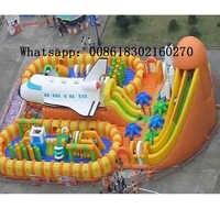 PVC Aufblasbare trampolin aufblasbaren rutschen funcity infltable prahler hindernis natürlich spiele