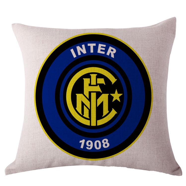 Inter pillow cover, Creative Italy football team logo International Milan throw pillow case pillowcase wholesale