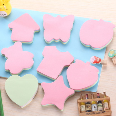 Cute Kawaii Novelty Memo Pad Sticky Notepaper  Note Star Love Heart House Butterfly Bear Sticker Office School Supplies