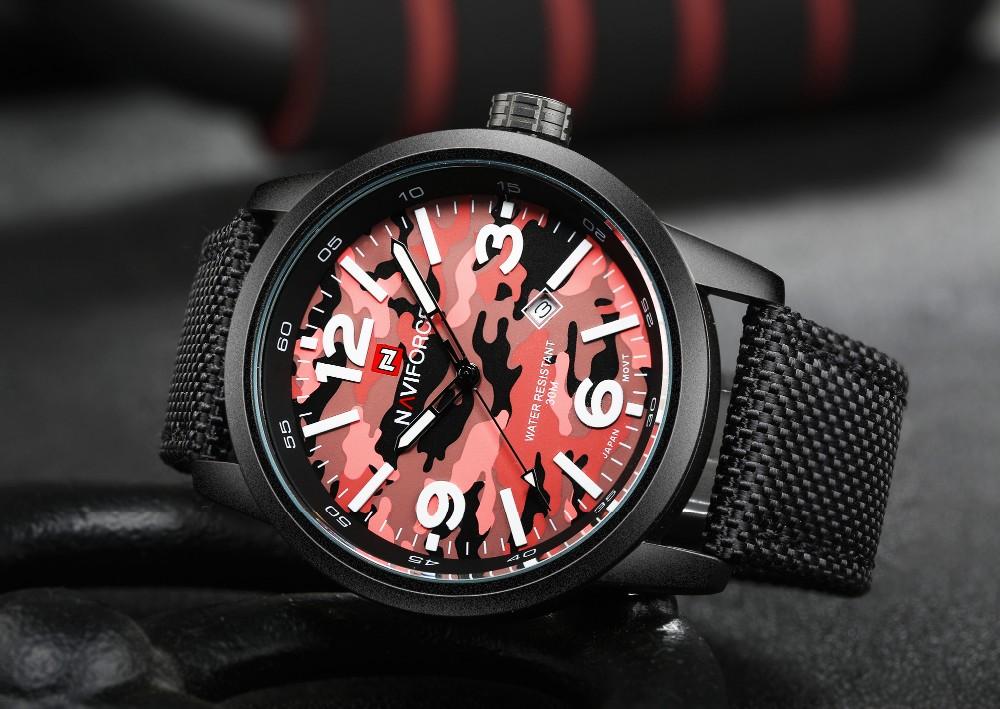 Naviforce NF9080 | Men's Canvas Strap Band Quartz Movement Watch