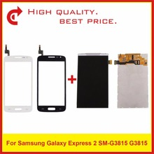 4.5 For Samsung Galaxy Express 2 SM-G3815 G3815 Lcd Display Screen Pantalla Monitor Replacement simple protective frosted abs back case for samsung g3815 white