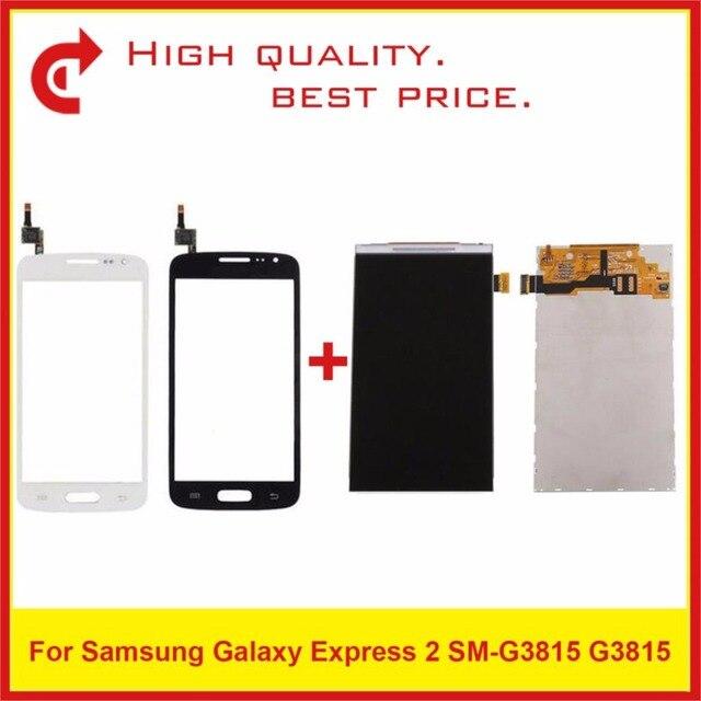 """4.5 """"dla Samsung Galaxy Express 2 SM G3815 G3815 wyświetlacz Lcd ekran wymiana monitora Pantalla"""