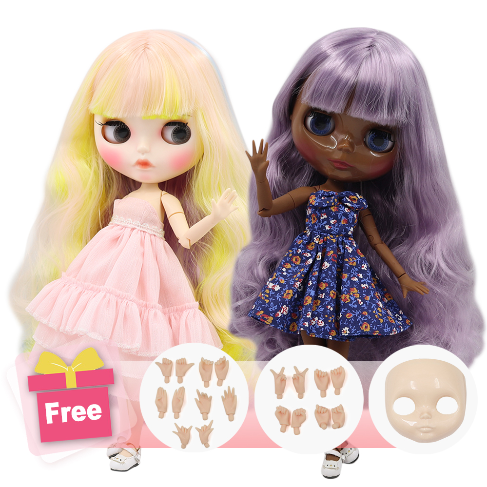 ICY Factory Blyth Doll Joint Body DIY Nude BJD Toys Fashion Dolls Girl Gift Special Offer On Sale With Face Shell Hand Set A&B
