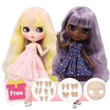 Ледяная фабрика Blyth кукла шарнир тело DIY обнаженные игрушки BJD модные куклы девушка подарок Специальное предложение на продажу с лицом оболочки ручной набор A& B