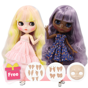 ICY Factory Blyth Doll Joint Body DIY Nude BJD toys Fashion Dolls girl gift Special Offer on sale with face shell hand set A&B(China)