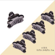 8086 Korean hair claws for girls PS plastic small top women quality bright black & transperent 3.2*1.7 12pcs/lot