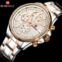 NAVIFORCE Top Luxury Brand Watches Men Business Fashion Mens Watches Stainless Steel Week Display Male Clock Relogio Masculino
