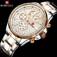 Naviforce topo de luxo marca relógios homens negócios moda relógios masculinos aço inoxidável exibição da semana relógio masculino relogio masculino masculino masculinos relogios masculino watch -