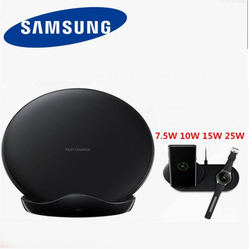 Chargeur rapide sans fil d'origine QI Samsung double Charge rapide Galaxy S6 s7 edge s8 s9 s10 Plus Note 9 Gear S Dock pour iphone iwach