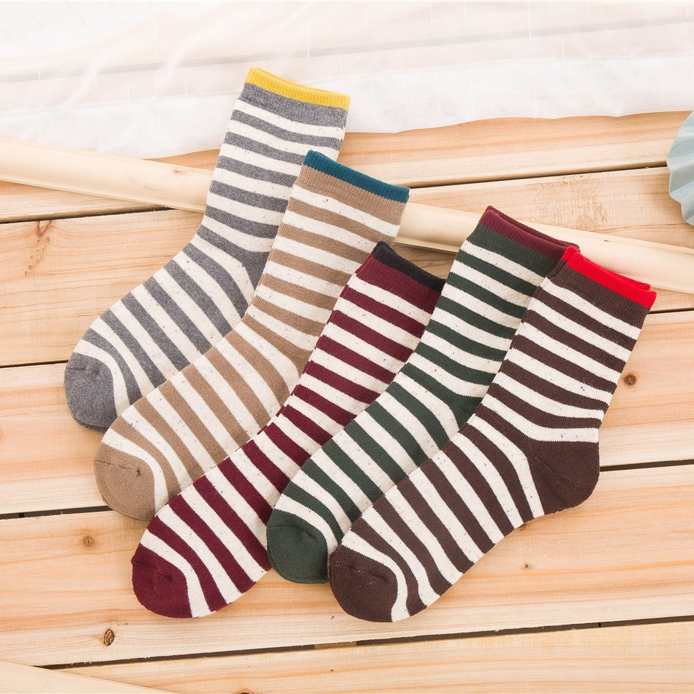 PEONFLY Deodorant Absorption Sweat Cotton happy funny novelty Socks colorful men 5PAIRS/LOT