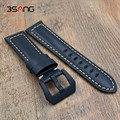 Quality Retro Genuine Leather Watch band Mens 22mm 24mm Watch Accessories For Panerai Strap With black clasp Fast delivery