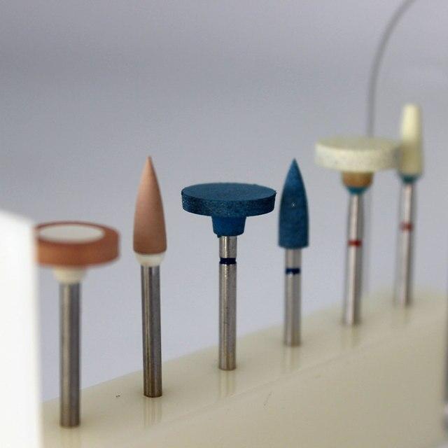 6 pcs dental lab ceramics diamond stone grinder zirconia full porcelian crowns polisher