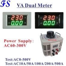 YB4835VA AC Spannung Amperemeter für Einzelne Phase Variac AC 10A 50A 100A 200A 500A 1000A Volt Amp Panel Meter AC 0-500V Spannung Meter