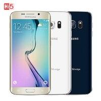 Разблокирована оригинальный samsung Galaxy S6 G920F/S6 край G925F 3 GB Оперативная память 32 ГБ Встроенная память Восьмиядерный LTE 16MP 5,1