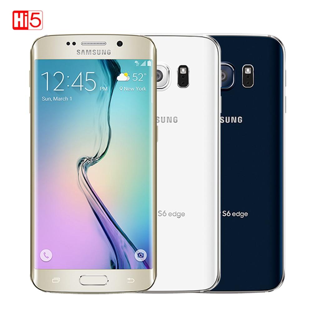 Débloqué Original Samsung Galaxy S6 G920F/S6 Bord G925F 3 GB RAM 32 GB ROM Octa base lte 16MP 5.1