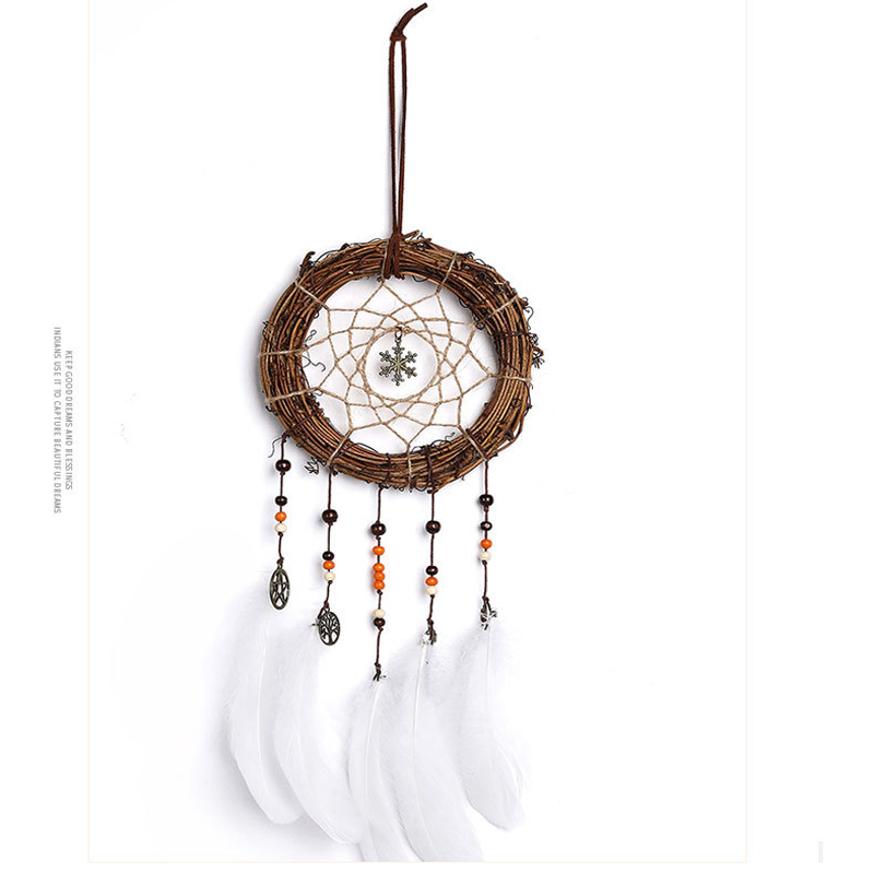 SYTH   dream Chaser vintage home decoration retro feather dream catcher circular feathers wall hanging dreamcatchers decor