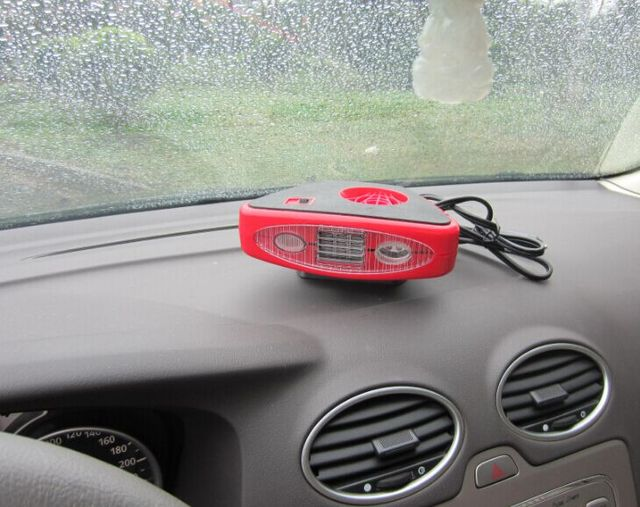 New 12 Volt Dc Auto Heater Defroster With Light Electric Portable Car