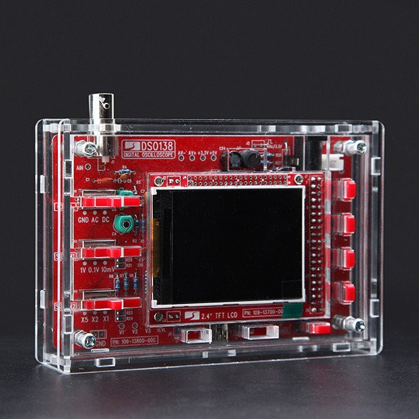 DSO138 DIY Digital Oscilloscope Kit 13804K Version With Transparent Acrylic Housing
