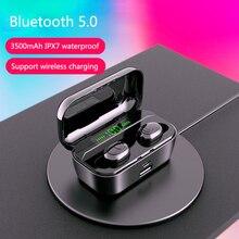 TWS Wireless Headphone Bluetooth 5.0 Earphones 3500 mAh Led Power Display CVC8.0 DSP noise reduction Sport Headset bank
