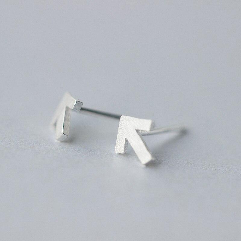 INZATT Punk Personality Arrow Sign Stud Earrings For Women Party 925 Sterling Silver Men Earrings Minimalist Fashion Jewelry