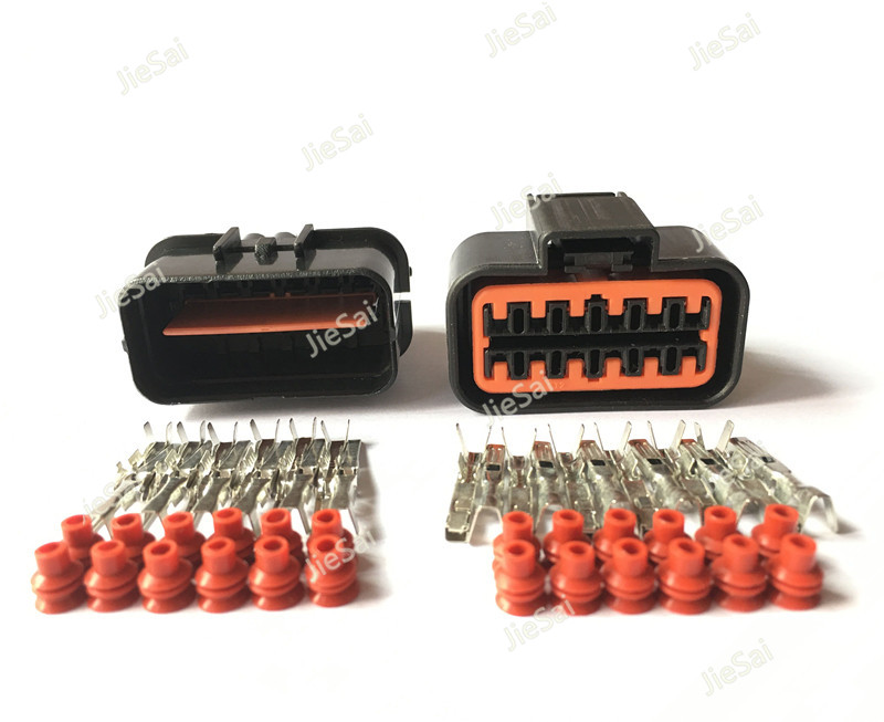 12 Pin PB625 12027 PB621 12020 Gas Accelerator Pedal Connector Automotive Connector For 99 05 VW Jetta Golf GTI MK4 Audi-in Connectors from Lights & Lighting