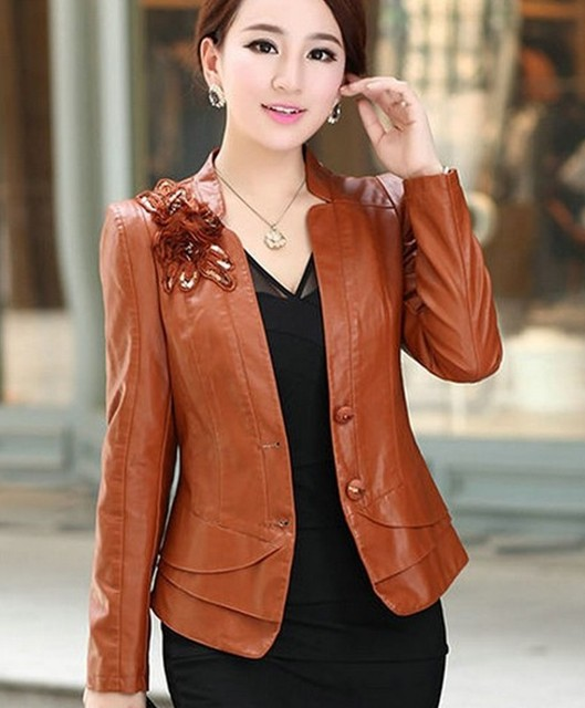 Aliexpress.com : Buy Fashion large size 4XL leather jacket women ...