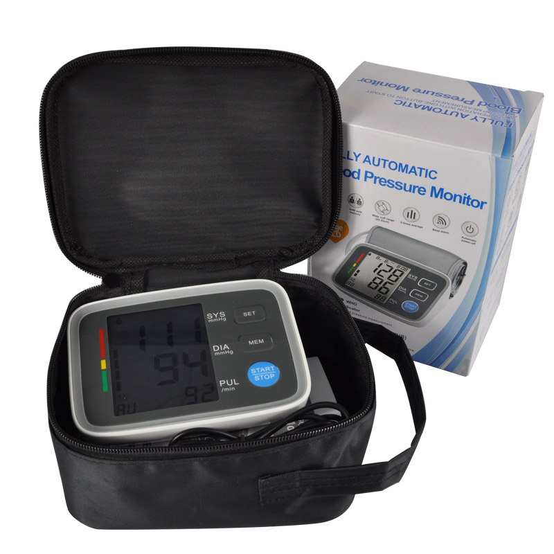 Arm cuff Digital Blood Pressure Monitor tonometer hematomanometer sphygmomanometer pulsometros Health Monitor for heart blood (9)