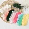 2016 корейский летом многоцветный женский хлопок корабль носки женские невидимые носки тонкие женские твердые носки тапочки