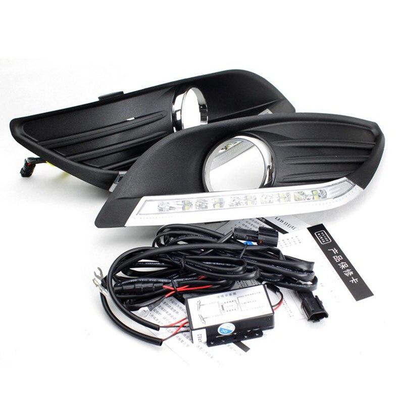 Car LED Light Sourcing External light LED Daytime running light DRL with fog lamp cover