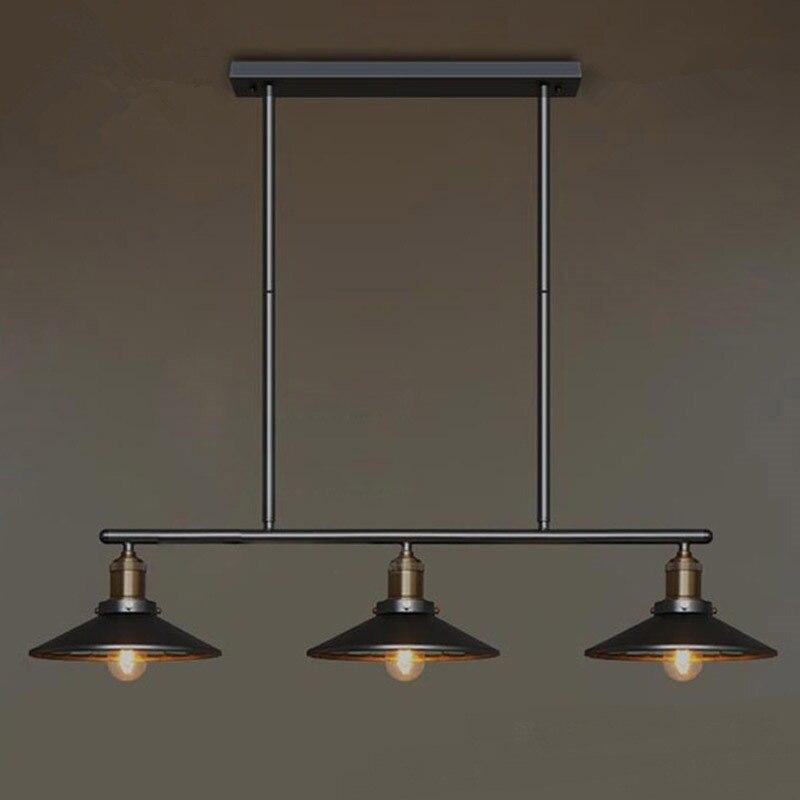 lamps Nordic loft retro industrial wind chandelier dining room lamp living room double head three head chandelier black white