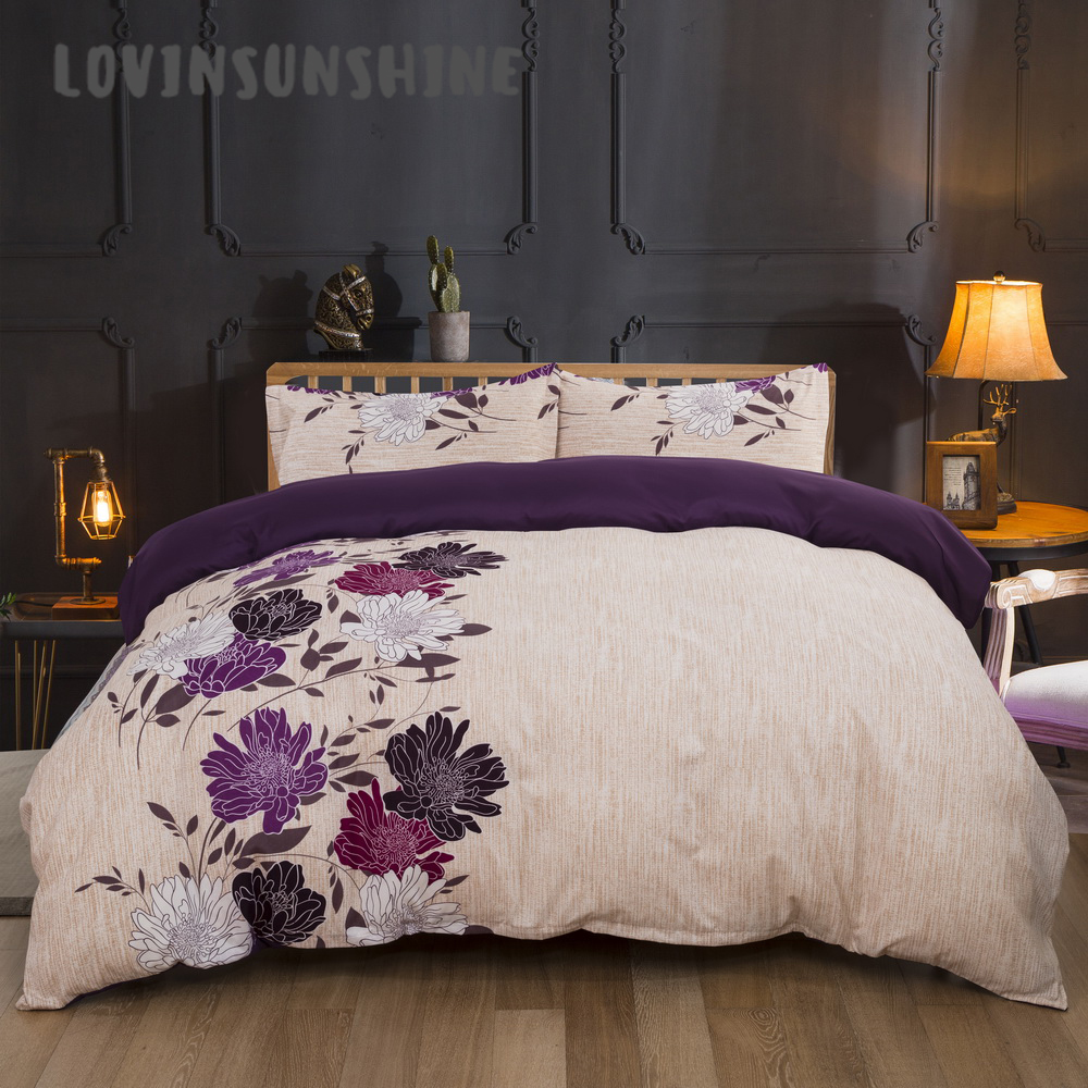 LOVINSUNSHINE Comforter Bedding Sets Duvet Cover Queen King Size Home Textile Flower Print Bedding And Bed Sets AB#118